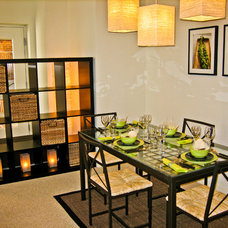 Contemporary Dining Room by Jeanine Turner