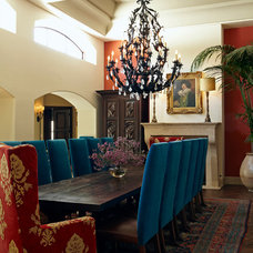 Mediterranean Dining Room by Wendy Black Rodgers Interiors