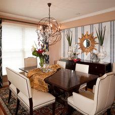 Contemporary Dining Room by Reusch Interior Design