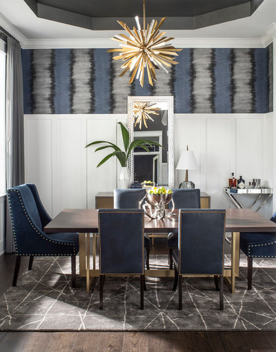Transitional Dining Room by John McClain Design