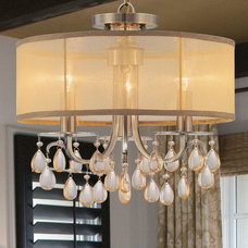 Transitional Dining Room by Northwest Lighting and Accents