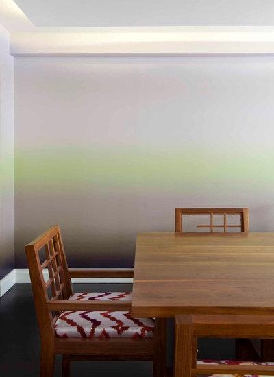 Langsam und sachte fließe die Farbe: Farbverläufe in der Wohnung
