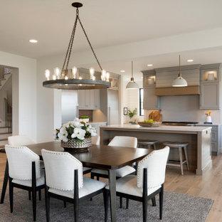 Dining room - huge transitional dining room idea in Minneapolis