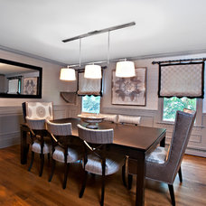Transitional Dining Room by CANDICE ADLER DESIGN LLC