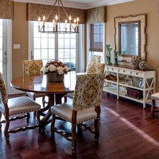 Transitional Dining Room by CANDICE ADLER DESIGN LLC