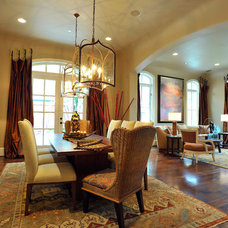 Transitional Dining Room by The Design Firm