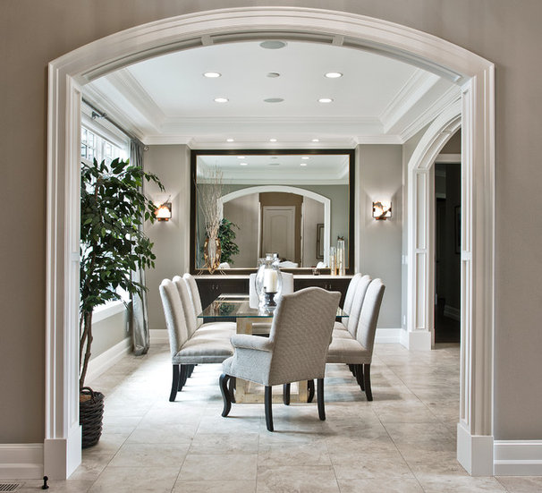 Transitional Dining Room by DESIGN GUILD HOMES
