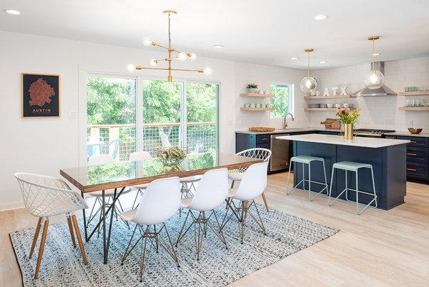 Midcentury Dining Room by Christen Ales Interior Design