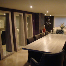 Contemporary Dining Room by muebles tabu by alexis samano