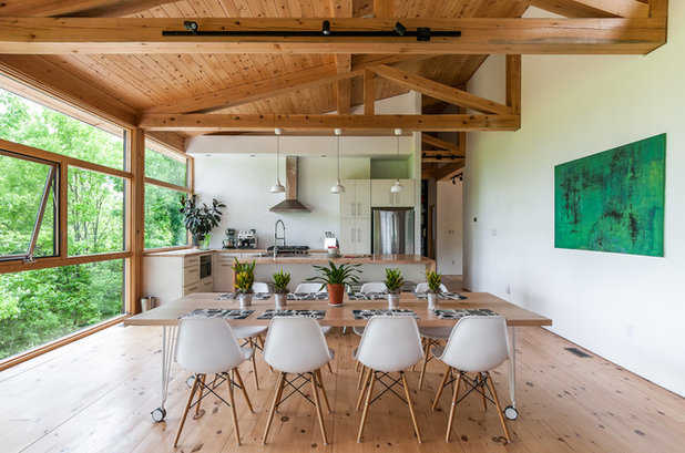 Contemporary Dining Room by Legendary Group