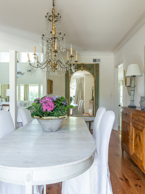 Inspiration For A Medium Sized Traditional Enclosed Dining Room In New Orleans With White Walls