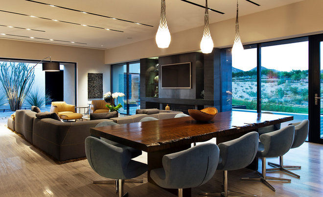 Contemporary Dining Room by Assemblage Studio