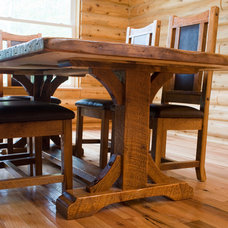 farmhouse dining room by Woodland Creek Furniture