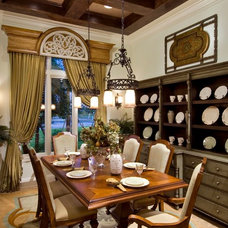 Mediterranean Dining Room by Peggy Oberlin Interiors, Inc.