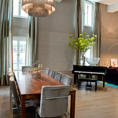 modern dining room by David Howell Design