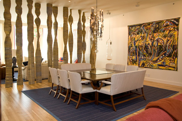 Contemporary Dining Room by Eddie Lee Inc.