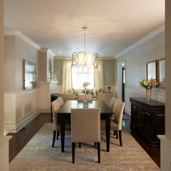 contemporary dining room by Meredith Heron