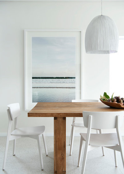 Beach Style Dining Room by David Wilkes Design