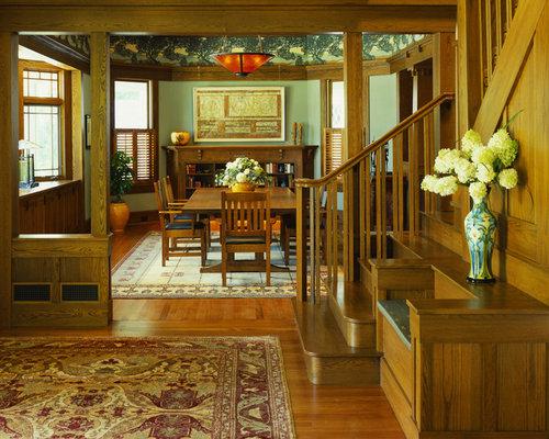 SaveEmail - Craftsman Style Living Room Houzz