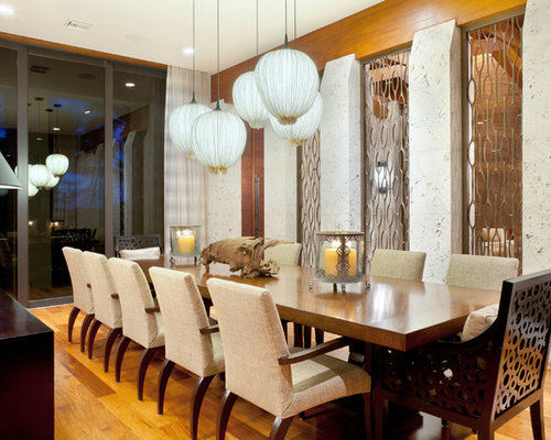 Tropical Dining Room Design Ideas Remodels Photos With