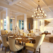 Tropical Dining Room by Romanza Interior Design