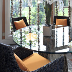 tropical dining room by Savvy Surrounding Style