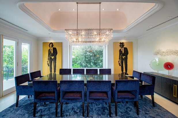 Transitional Dining Room by PAYTON ADDISON INC