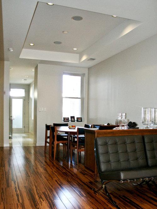 salle 224 manger moderne avec un sol en bambou photos et