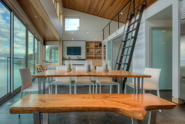 Beach Style Dining Room by Dan Nelson, Designs Northwest Architects