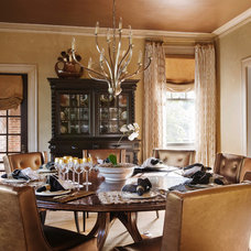 Traditional Dining Room by Panageries