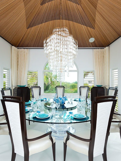 Tropical seattle dining room design ideas remodels photos for Tropical dining room ideas