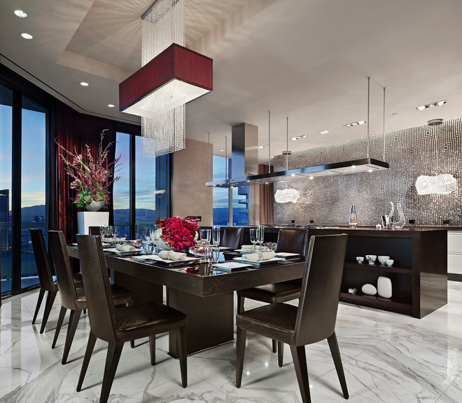 Contemporary Dining Room by Earth Elements Design Center