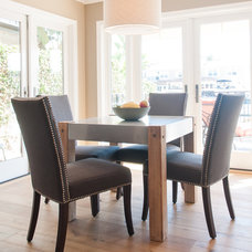 Transitional Dining Room by Lulu Designs