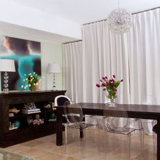 Contemporary Dining Room by Bethany Lewis, R.I.D.