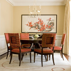 Asian Dining Room by LORNA GROSS Interior Design