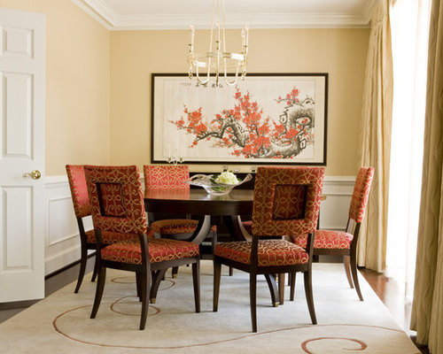 Inspiration For A Mid Sized Asian Enclosed Dining Room Remodel In Dc Metro With Beige