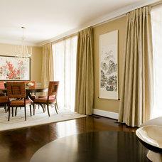 Asian Dining Room by LORNA GROSS Interior Design