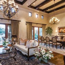Mediterranean Dining Room by Stotler Design Group