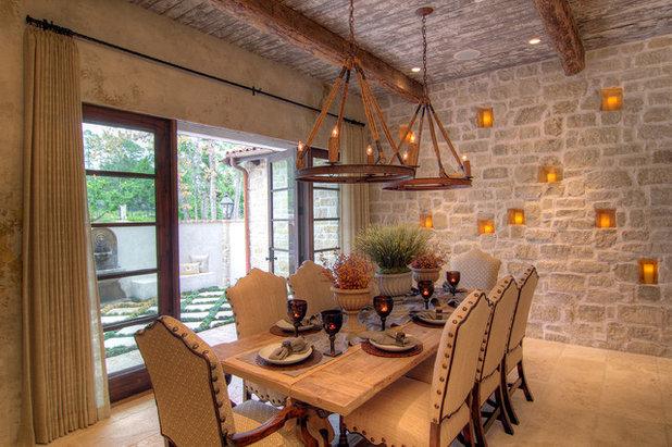 Mediterranean Dining Room by Eklektik Interiors