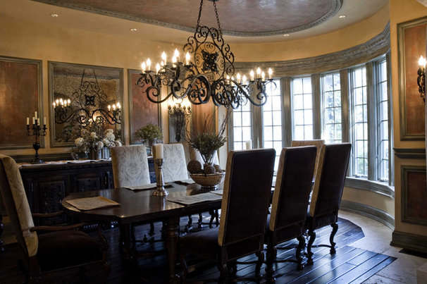 Mediterranean Dining Room by Letitia Holloway