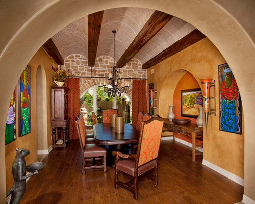 Tuscan walls home design ideas pictures remodel and decor for Tuscan dining room ideas
