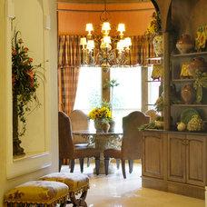 Mediterranean Dining Room by Decor Studio 1