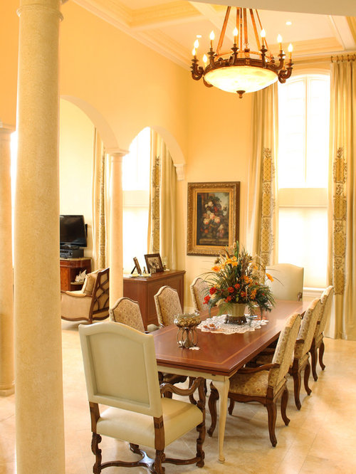 Orange dining room design ideas renovations photos with for Orange dining room design ideas