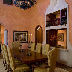 mediterranean dining room by JMA INTERIOR DECORATION