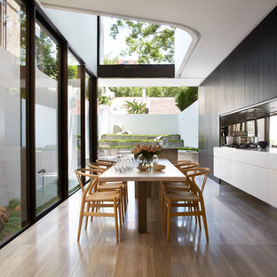 Kitchen/dining room combo - contemporary kitchen/dining room combo idea in Sydney