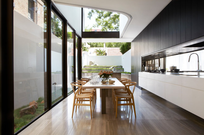 Contemporary Dining Room by Smart Design Studio