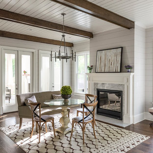 75 Beautiful Dining Room With A Stone Fireplace Pictures Ideas September 2020 Houzz