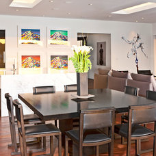 Contemporary Dining Room by The Xanadu group