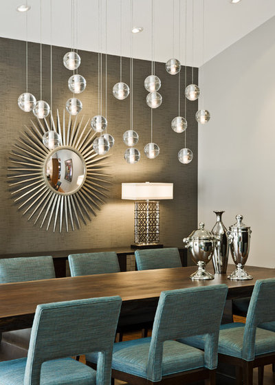 Midcentury Dining Room by Peterssen/Keller Architecture