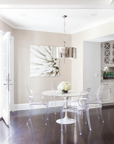 Transitional Dining Room by Susan Glick Interiors